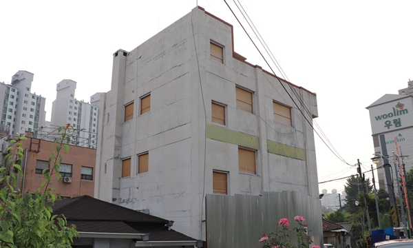 서울시 용산구에 위치한 중성화센터 건립 예정 건물
