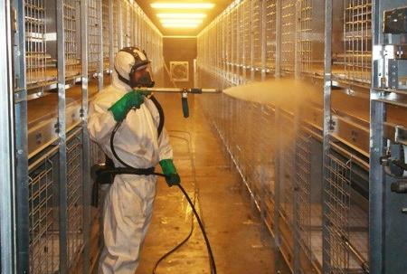 전문방역업체에 의한 청소·소독