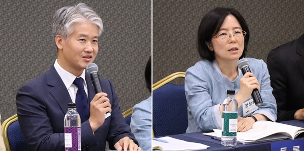 윤종웅 가금수의사회장(왼쪽)과 정상희 호서대 교수(오른쪽)