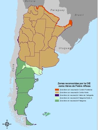 권역별로 차별화된 구제역 방역전략을 실시하는 아르헨티나 (자료 : SENASA)