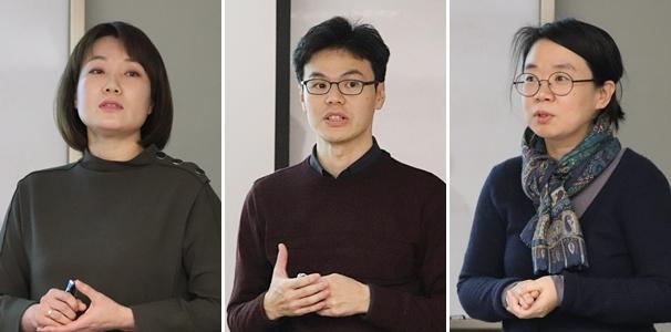 (왼쪽부터) 본 연구를 이끈 천명선 교수와 박효민, 주윤정 박사