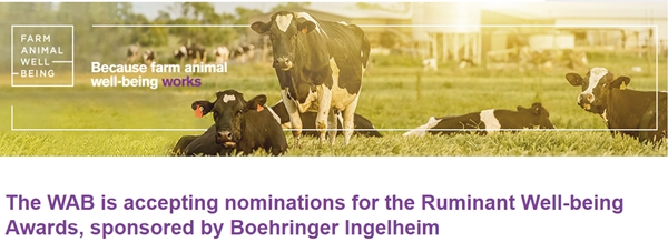 2018 Ruminant Well-Being Awards