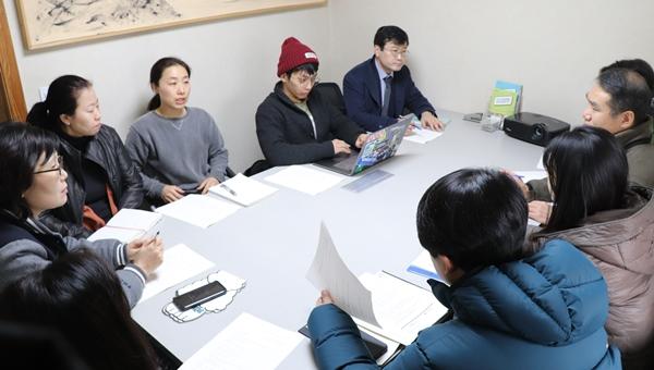 지난 1월 16일 더불어숨센터에서 공동 대응 방안을 협의한  동물보호시민단체 카라와 서울시수의사회, 서울동물복지지원센터