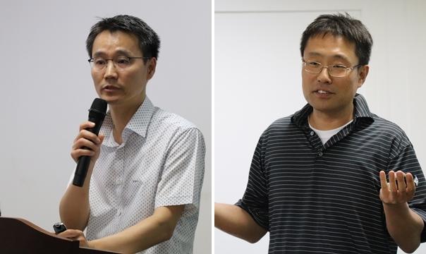 정승교 사무관(왼쪽)과 이승윤 대표(오른쪽)
