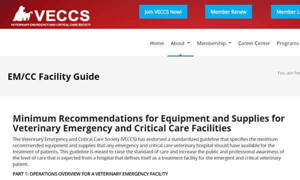 veccs faility guide