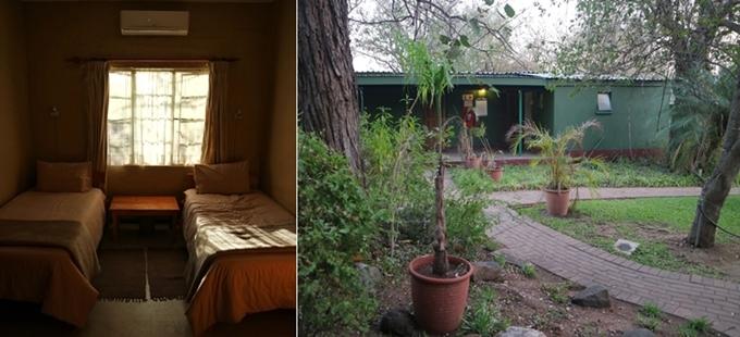 수의사 캠프의 내·외부 모습. 작은 정원이 예쁜 곳이다.