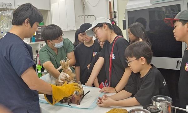 평택에 위치한 경기도 야생동물 구조관리센터의 생태교육활동 (사진 : 경기도)