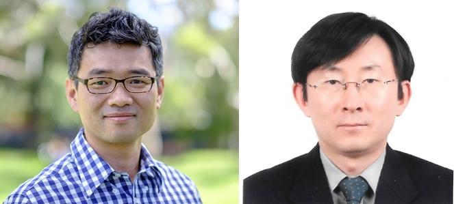 (왼쪽부터) K-MOOC서 미생물 강연에 나선 이상원, 박승용 교수