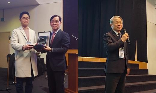 왼쪽부터) 김태현 수의사, 지동범 전 회장, 정만복 신임 회장