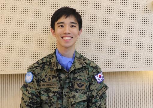 동명부대 20진, 21진에서 활약한 수의장교 김형규 중위