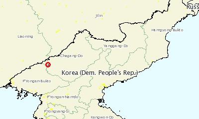 북한 ASF 발생지는 북중 접경지역에 위치했다 (자료 : OIE)
