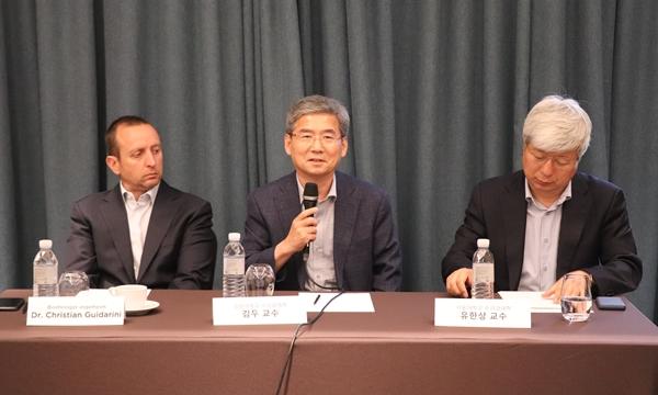 (왼쪽부터) 귀다리니 박사, 김두 교수, 유한상 교수