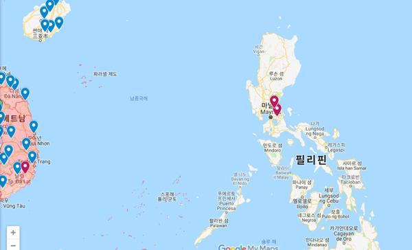 필리핀에서 발생한 ASF (자료 : OIE)
