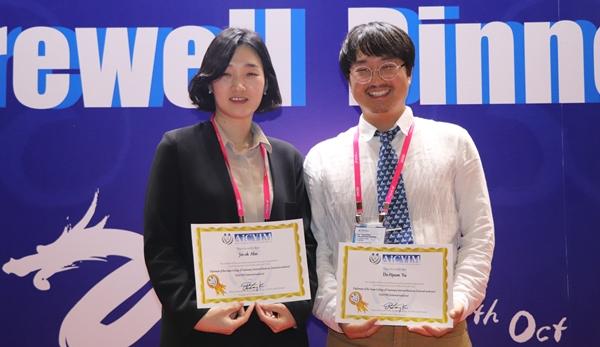 (왼쪽부터) 아시아수의내과학회 디팩토전문의로 선정된 안진옥, 유도현 교수