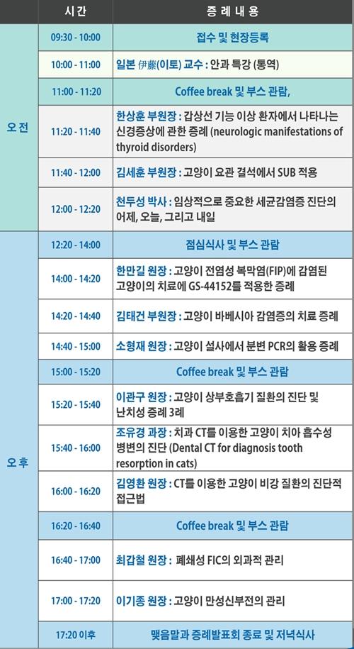 2020 로얄동물메디컬센터 정기 증례발표회 일정