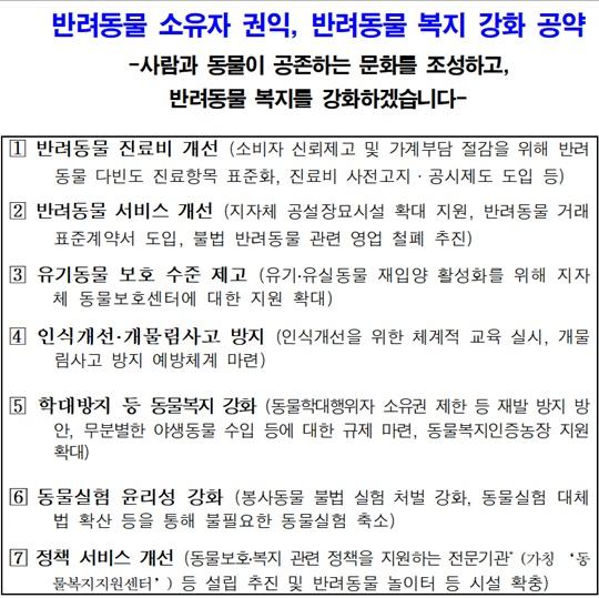 더불어민주당 4.15 총선 반려동물 공약